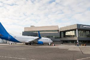 Jet2's new aircraft before leaving the Boeing factory in Seattle