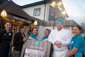 Elysia Day, general manager, and her team officially re-opening The Prairie, Burnley. (s)