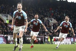 Ashley Barnes claimed a goal and an assist against his former club at the Amex Stadium