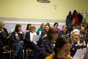 Some of the people who attended the launch of the Padiham Community Choir.