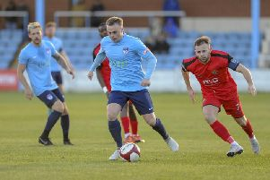 Chris Chantler scored the only goal at Pickering Town last weekend.