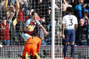 Ashley Barnes celebrates his winner