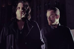 The Cult's Ian Astbury and, right, Billy Duffy.