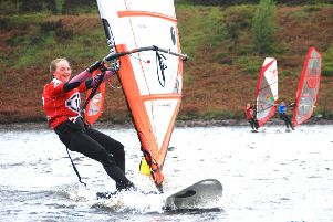 All smiles from Glossop Sailing Club windsurfer Manon Oakes.