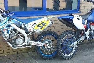 Two of the bikes seized by police from the Stoops area in Burnley last night.
