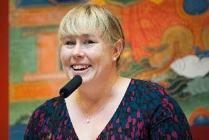 Kadam Bridget Heyes, UK National Spiritual Director for Kadampa Buddhism.