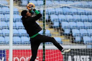 Christoffer Mafoumbi is back training with Blackpool and not Congo this week