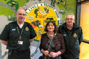 Burnley MP Julie Cooper at the opening of the new ambulance station in Briercliffe Road.