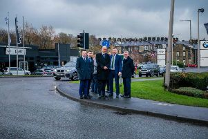 Transport secretary Chris Grayling on a recent visit to Colne