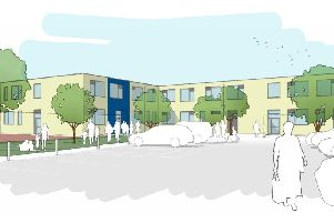 An artist's impression of The Heights, the new school that is being built in Burnley this year at a cost of 5.4M.