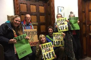 Members of the international Extinction Rebellion movement