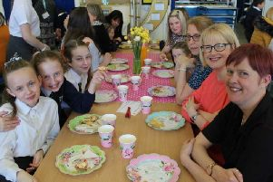 Pupils of St James' Lanehead Primary treated their mums to a wonderful afternoon tea to celebrate Mother's Day. (s)
