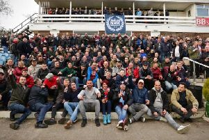 The Burnley and Helmond Sport fans together.