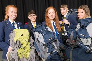 Students at Blessed Trinity RC College get prepared for their Duke of Edinburgh awards