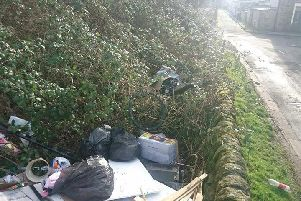 Some of the flytipped waste that has been cleaned up
