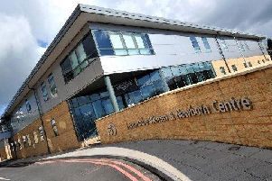 Patients and staff had to be evacuated after a fire outside the Lancashire Women and Newborn Centre at Burnley General Hospital yesterday.