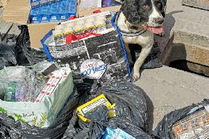 The illicit cigarettes and tobacco, believed to be worth around 12,000, were confiscated from shops in Preston and Burnley.