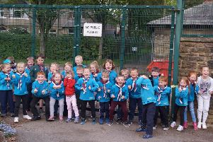 The Beavers get ready for their bulb planting at Burnley's Scott Park.