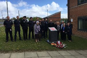A memorial service for firefighters Tony Hall and John Donley was held at Peterlee Fire Station on Firefighters' Memorial Day.