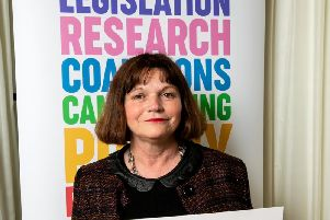 Julie Cooper MP at the arthritis event in Parliament
