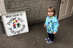Potter Hill Playgroup with one of its youngsters.