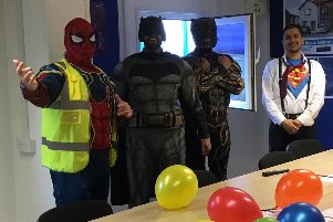 Spiderman, Batman, Black Panther and Superman were at the event