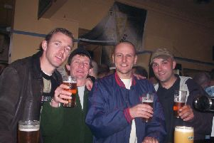 (From left) Bob de Bruin's second cousin Martijn, Darran, Bob himself, and Bob's brother-in-law Hein in Hull