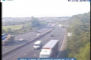 M1 Junction 29 northbound this morning.