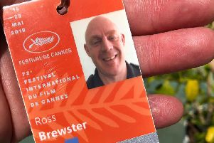 Ross Brewster's ID for the Cannes Film Festival.