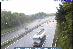 M1 junction 21 this morning