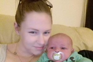 Zian Lezlee Middleton (21), died in her sleep, leaving two-month-old baby boy Riley-James and partner Kyle.