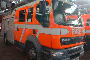 Two fire crews went out
