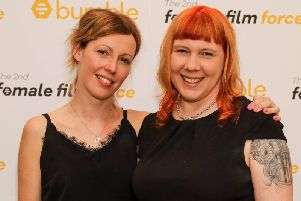 Joy Wilkinson (right) has won a 20,000 grant from Bumble to make her new film, Ma'am. Credit: Getty/Hoda Davaine.