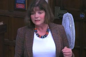 Burnley MP Julie Cooper speaking in Westminster Hall