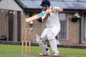 Robert Laycock bats for Booth in the quarter-final win over Warley