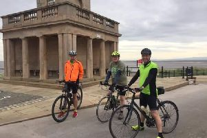 Matt Beardwell (24), of Wigan,  Martyn Climpson (50), of Ormskirk and Matt Beardsworth (40), of Preston, completed the 114km bike ride from Fleetwood to Liverpool for Rosemere Cancer Foundation