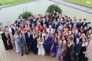 The Market Weighton School students ahead of the school prom.