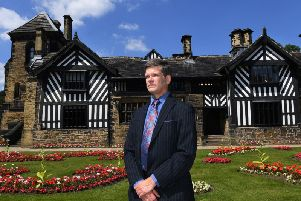 Richard Macfarlane, museums manager at Calderdale Council, outside Shibden Hall in Halifax. Picture by Jonathan Gawthorpe.