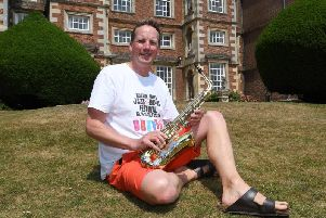 Owner of Burton Agnes Hall and saxophone player Simon Cunliffe-Lister