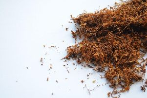Raw tobacco was seized