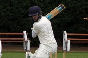 Barnoldswicks Paddy Turner clean bowls Read professional Matt Walker. Picture: Peter Naylor