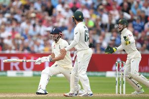 Anderson is caught out during the third day of first Ashes Test at Edgbaston (photo: Getty Images)