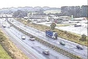 A lorry has jackknifed this morning on the M61 near junction 8 at Chorley