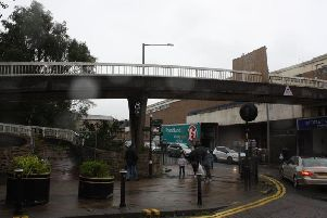Work is due to begin this weekend on the demolition of this footbridge in Burnley town centre.