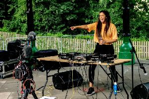 DJ Nadia Lucy prepares to wow the crowds at Padiham Community Festival in this photograph taken by Ian Moore.
