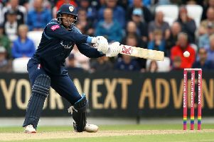 Billy Godleman, who struck an unbeaten half-century for Derbyshire Falcons. (PHOTO BY: Jan Kruger/Getty Images)