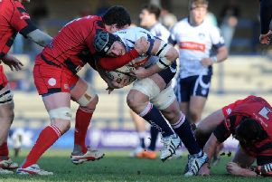 Mike Myerscough in action for Yorkshire Carnegie