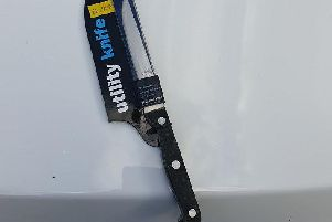 One of the knives that had been sold