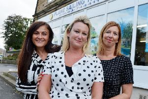 Plane Sailing travel agents back up and running. Nicola Brogden, Leanne Lillis and Rebecca Hall.