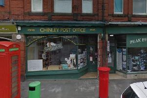 One of the robberies occurred at Chinley Post Office